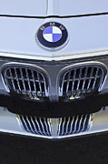 Classic Car Photography Posters - BMW Grille Poster by Jill Reger