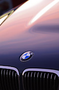 Car Photo Framed Prints - BMW Hood Emblem Framed Print by Jill Reger