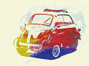 Bmw Watercolor Photos - BMW Isetta by Irina  March
