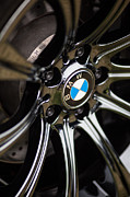 Chrome Framed Prints - BMW M5 Black Chrome Wheels Framed Print by Mike Reid