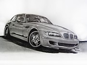 Motorsport Drawings - BMW MCoupe by Indaguis Montoto