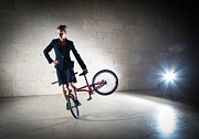 Action Photo Photos - BMX Flatland rider Monika Hinz elegant and cool by Matthias Hauser