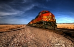 Bnsf Framed Prints - BNSF freight  Framed Print by Rob Hawkins