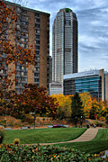 Buildings Photos - BNY Mellon from Duquesne University Campus HDR by Amy Cicconi