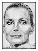 Closeups Drawings Posters - Bo Derek in 1994 Poster by J McCombie