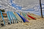 Surfing Metal Prints - Board Meeting Metal Print by Cheryl Young