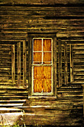 Marty Koch  Metal Prints - Boarded Window Metal Print by Marty Koch
