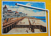 Amusements Framed Prints - Boardwalk Ad Framed Print by Skip Willits