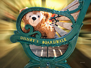 Magical Place Photographs Posters - Boardwalk Bear Poster by Thomas Woolworth