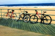 Landscapes Digital Art - Boardwalk Bikes by RC DeWinter