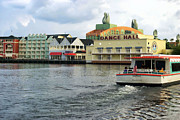 Magical Place Photographs Prints - Boardwalk Boat Ride Walt Disney World Print by Thomas Woolworth