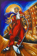 Jazz Artwork Painting Originals - Boardwalk by Daryl Price