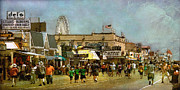 New Jersey Pastels Originals - Boardwalk by Deborah Mix