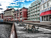 Cinderella Photographs Prints - Boardwalk Early Morning Print by Thomas Woolworth