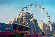 Alicegipsonphotographs Art - Boardwalk Ferris  by Alice Gipson