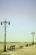 Light Poles Framed Prints - Boardwalk Framed Print by Margie Hurwich