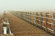 See Fog Posters - Boardwalk To The Unknown Poster by Karol  Livote