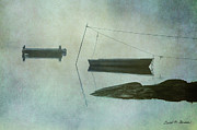 Boat And Dock Taunton River No. 2 Print by David Gordon