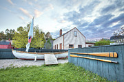 New England Village Scene Prints - Boat and Oars Print by Eric Gendron