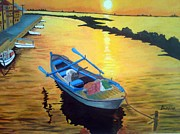 John Davis - Boat at Sunset
