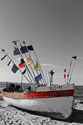 Beach Photograph Digital Art Prints - Boat at the beach 3 Print by Stefan Kuhn