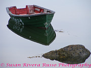 New England. Pyrography Prints - Boat for Sale Print by Susan Russo