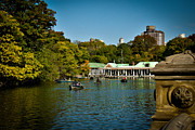 Row Boat Prints - Boat House Central Park New York Print by Amy Cicconi