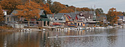 Rowers Photos - Boat House Row color 1 by Jack Paolini