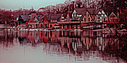 Kelly Drive Prints - Boat House Row Print by Gallery Three
