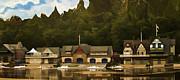 Boat House Row Print by Trish Tritz