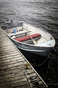 Tied Metal Prints - Boat in fog Metal Print by Elena Elisseeva