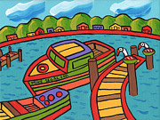 Cedar Key Prints - Boat In The Bayou - Cedar Key Print by Mike Segal