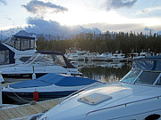 Grand Tetons Prints - Boat Night Print by Mike Podhorzer