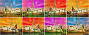 Sections Prints - Boat of a Different Color Print by East Coast Barrier Islands Betsy A Cutler
