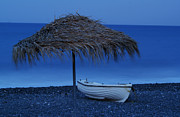 Boat On Beach Print by Saul Moreno