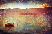 Silvia Ganora Framed Prints - Boat on Lake Maggiore Framed Print by Silvia Ganora