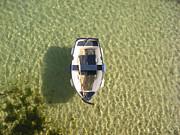 Boat On Ocean Print by Pixel Chimp