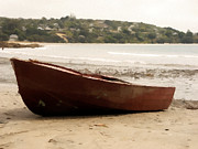 Serene Photo Posters - Boat on shore 02 Poster by Pixel Chimp