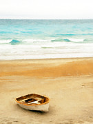 Relaxing Prints - Boat on shore Print by Pixel  Chimp