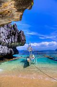 Fototrav Print - Boat on tropical beach