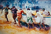 Puerto Rico Paintings - Boat People by Jani Freimann