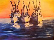 Galveston Paintings - Boat Series 1 second Edition by Ruben Barbosa