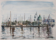 Naval Academy Paintings - Boat Show Weekend by Kristin Cronic
