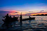 Fototrav Print - Boat silhouettes Angkor Cambodia