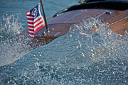 Mahogany Prints - Boat Spray Print by Steven Lapkin
