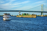 Delaware River Prints - Boat Traffic Print by Olivier Le Queinec