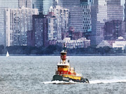 Skylines Metal Prints - Boat - Tugboat Stephen Scott Metal Print by Susan Savad