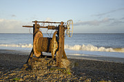 Lowestoft Metal Prints - Boat winch 2 Metal Print by Steev Stamford