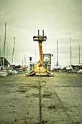 Trawler Metal Prints - Boat winch Metal Print by Tom Gowanlock