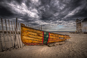 Asbury Park Photo Originals - Boat Wreckage by Michael Ver Sprill
